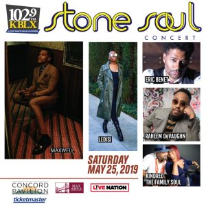 KBLX Stone Soul 2019 Lineup - Sponsored by The Barnes Firm