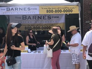 The Barnes Firm Fiestas Patrias Booth