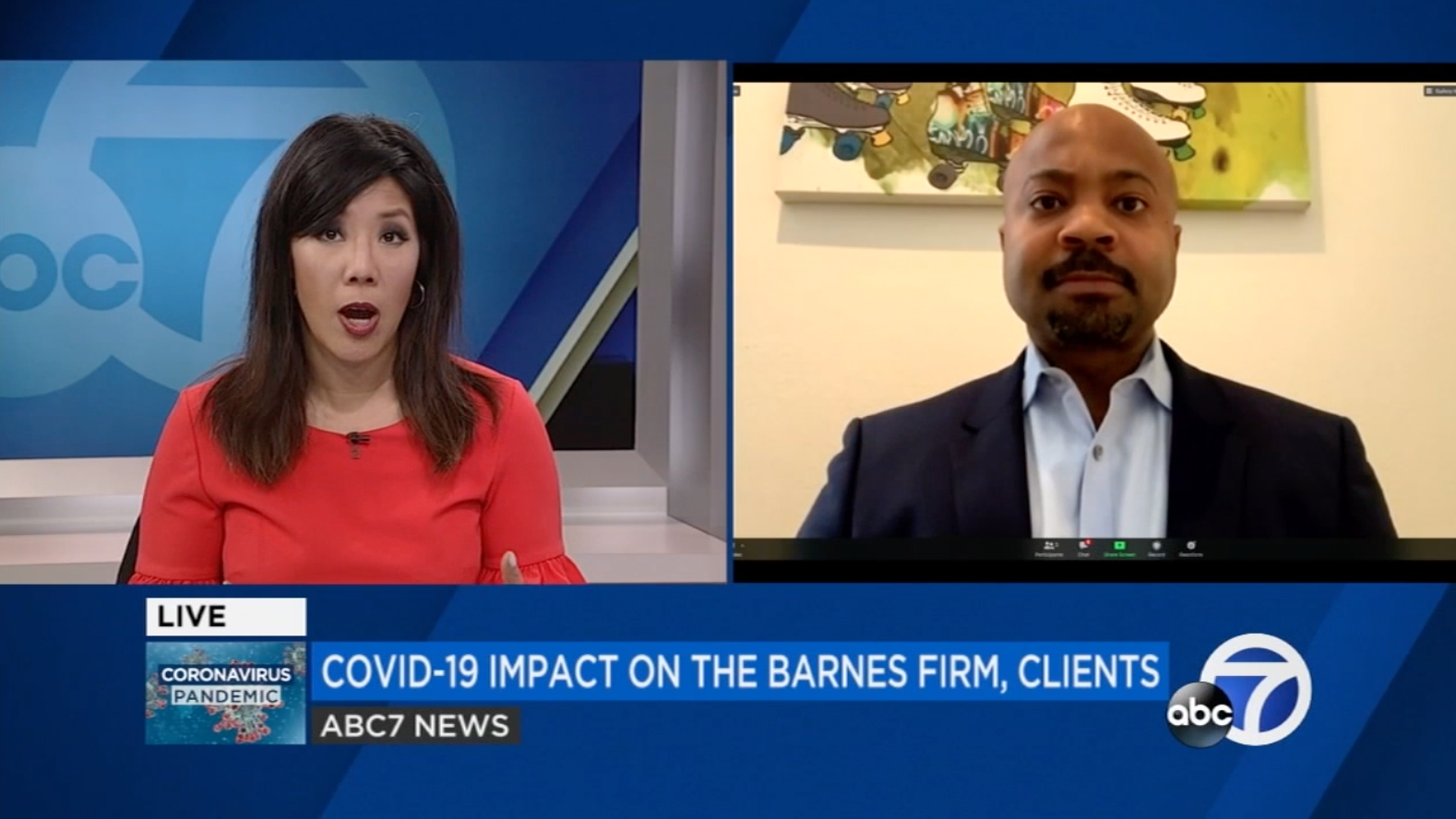 Landon Vivian ABC News The Barnes Firm COVID