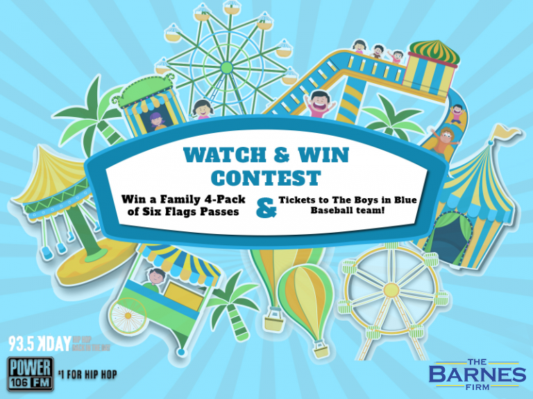 Watch & Win Six Flags Passes Contest