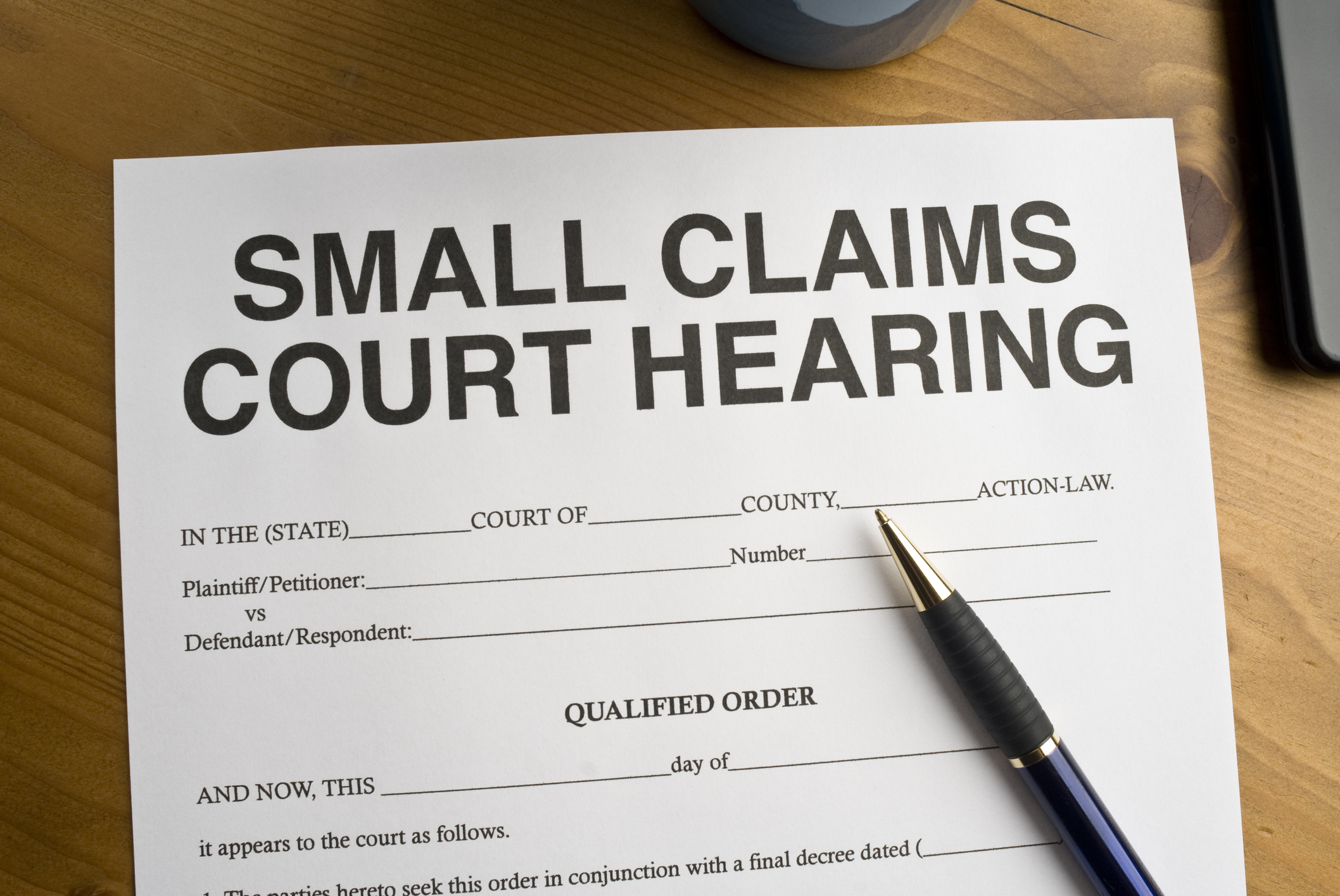 you can ask for lost wages in a small claims court hearing